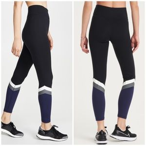 All Access Black Navy Colorblock Leggings Small